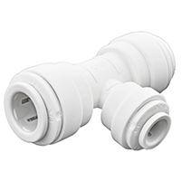 Speedfit PP30121208WP Tube Reducing Tee, 3/8 X 3/8 X 1/4 in, Push-Fit, 4 - 10 bar Working, Polypropylene