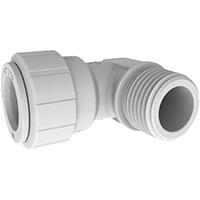 Speedfit PSEI Tube To Pipe Elbow, 1/2 in, CTS X MNPT, 160 psi, Plastic, White, 73 deg F