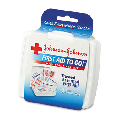 Mini First Aid To Go Kit, 12-Pieces, Plastic Case