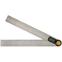 Johnson Level 1888-1100 Angle Locator/Rulers, Digital, 11 In Lgth