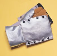 Tillman+ Silver And Brown Leather And Aluminized Rayon Wool Lined Aluminized Welding Glove With Gauntlet Cuff