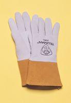 "Tillman+  Large Pearl Gray Deerskin Standard Grade TIG Welders Glove With Kevlar+ Stitching, Straight Thumb And 4"" Cuff"