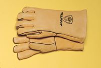 "Tillman+ Large Gold 14"" Top Grain Elk Wool Lined Welders Gloves With Straight Thumb, Welted Fingers And Kevlar+ Stitching (Carde"