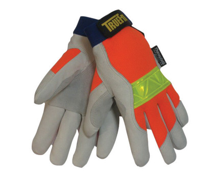 Tillman� Large Hi-Viz Orange And Gray TrueFit� Top Grain Pigskin Thinsulate� Lined Cold Weather Gloves With Reinforced Thumb, El