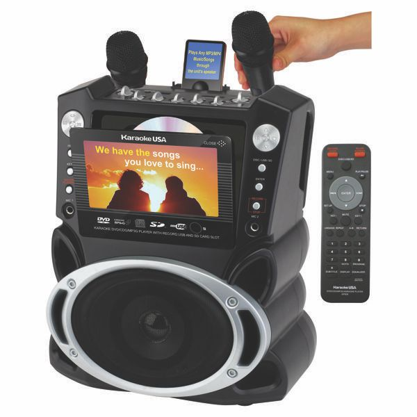 "JS KARAOKE GF829 KARAOKE PLAYER RECORDER 7"" COLOR TFT SCREEN"
