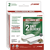 Gun Bait Block 932 Disposable Mouse Killer, 1 oz, Pack, Solid, Green, Grain Like
