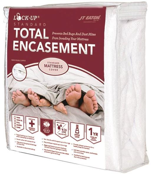 Lock-Up 83 Twin Size Mattress Encasement, 39 in L X 75 in W X 14 in H