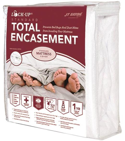 Lock-Up 83 King Size Mattress Encasement, 78 in L X 80 in W X 16 in H