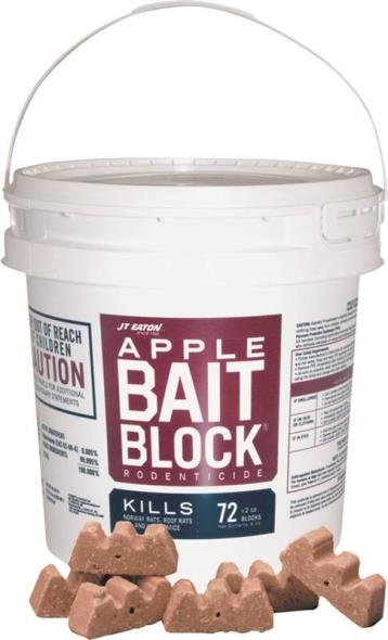BLOCK BAIT RAT/MICE APPLE 9LB