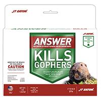 J.T. Eaton 276 Gopher Killer Bait, 16 oz Hang Tag, Green, Paraffin Block, Molasses/Peanut Butter