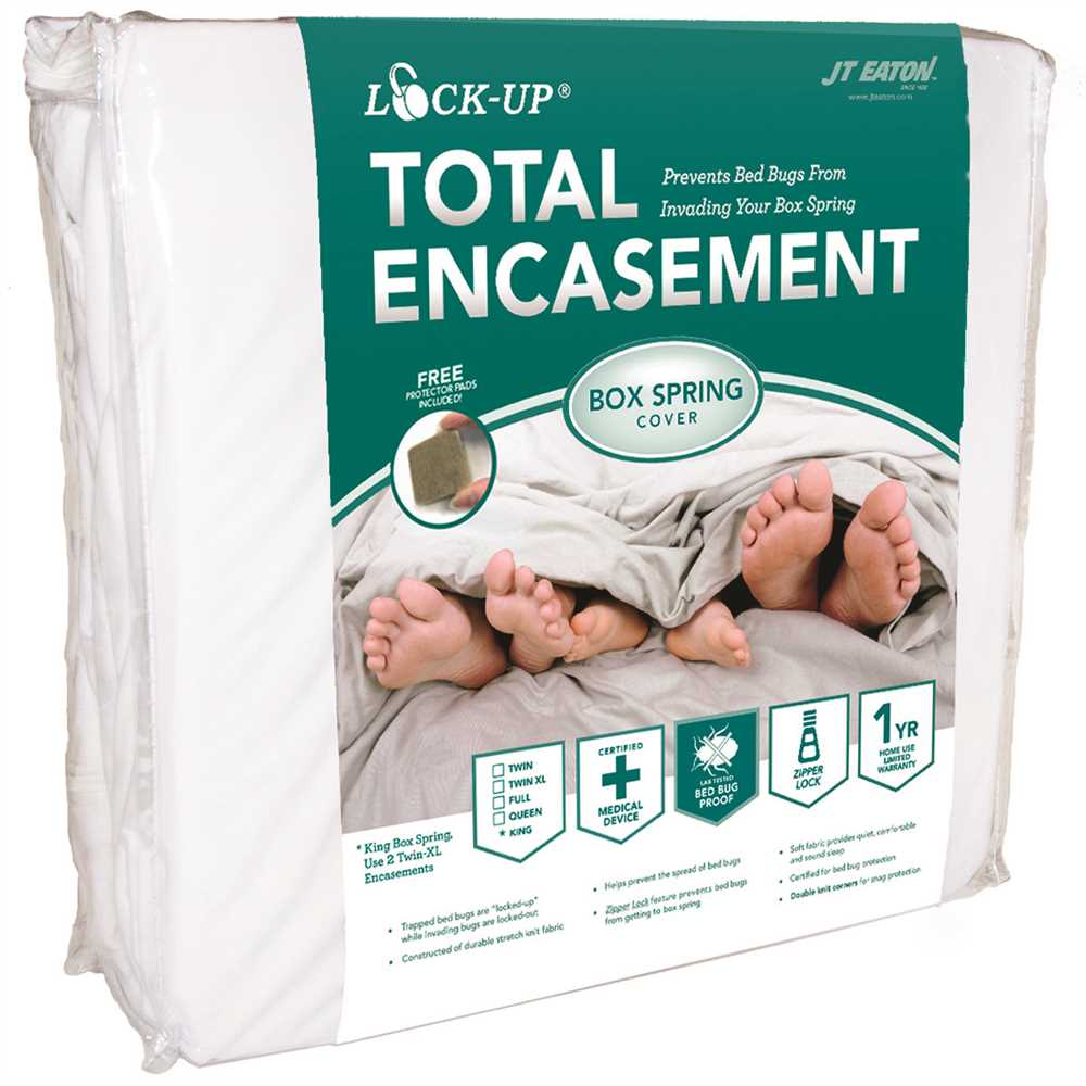 JT Eaton™ Bed Bug Lock-Up® Total Encasement Box Spring Cover, Full