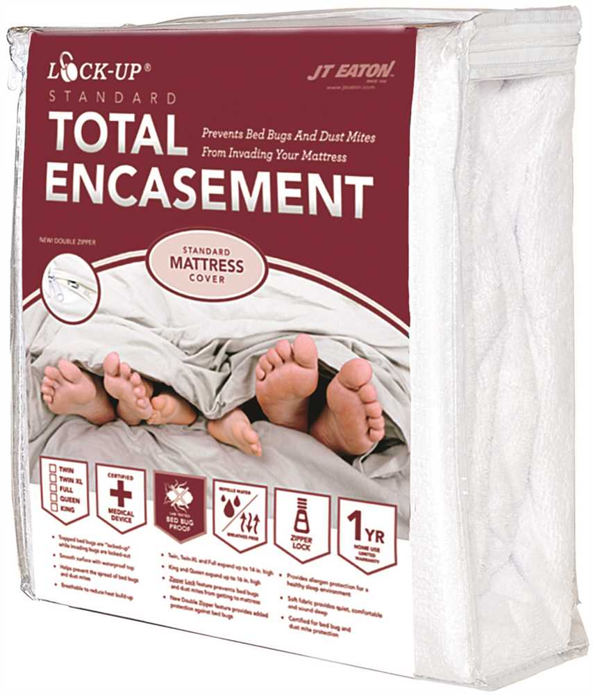 JT EATON� BED BUG LOCK-UP� TOTAL ENCASEMENT MATTRESS COVER, TWIN