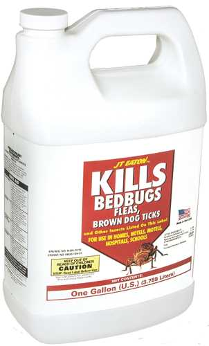 JT EATON� KILLS BEDBUGS SPRAY, 1 GAL. BOTTLE WITH SPRAYER