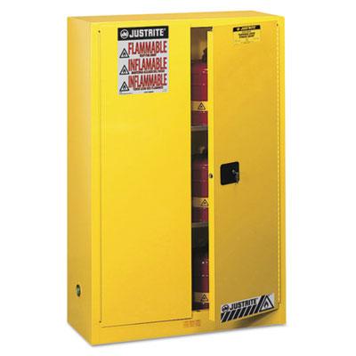 Sure-Grip EX Standard Safety Cabinet, 43w x 18d x 65h, Yellow