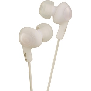 JVC HAFR6W Gumy Plus Earbuds with Remote & Microphone (White)