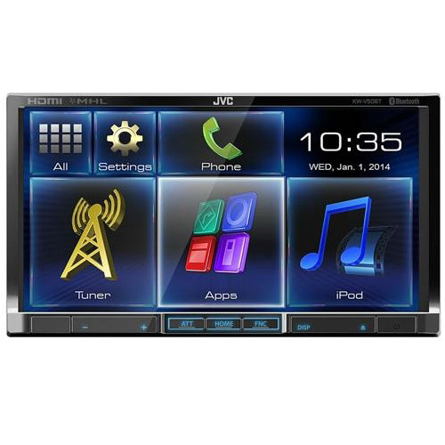 "JVC 7"" LCD Detachable In-Dash Receiver with Bluetooth"