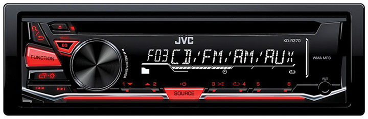 JVC CD Receiver Front Aux Input