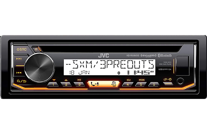 JVC Marine CD/AM/FM BT SiriusXMVariable color Front Aux Front USB input