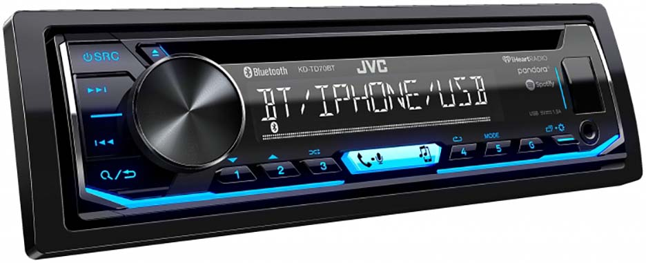 JVC Single Din CD Player AM/FM/CD/BT/USB