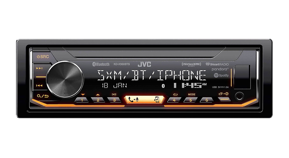JVC Single Din Mechless AM/FM/BT/USB Satellite ready