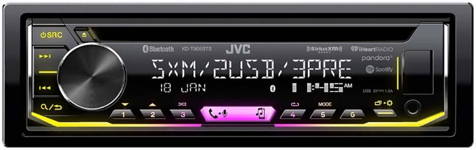 JVC Single Din CD Player AM/FM/CD/BT/USB Sat. Ready