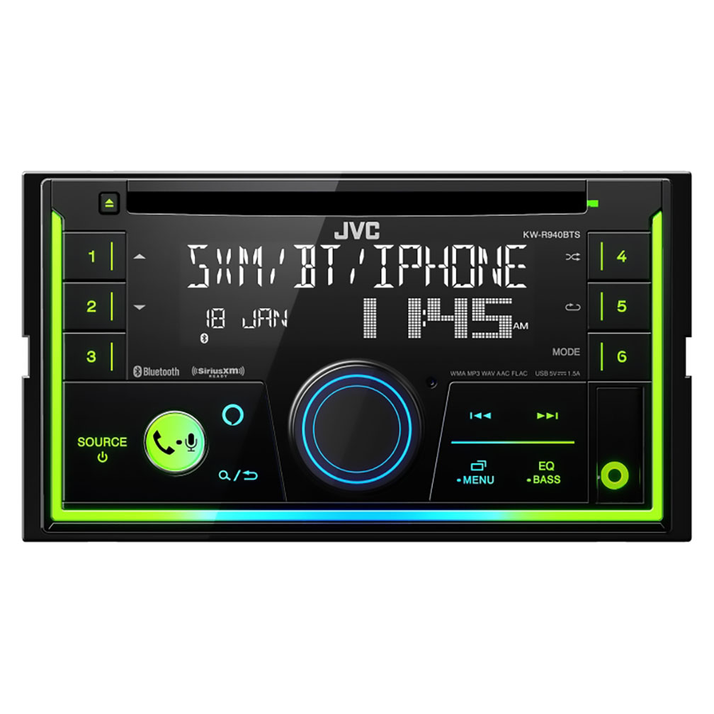 JVC D.Din CD Player AM/FM/BT/Sat ready USB/3.5 input