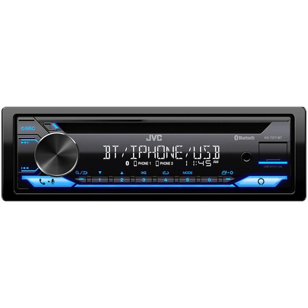 JVC Single Din AM/FM/CD/USB Bluetooth