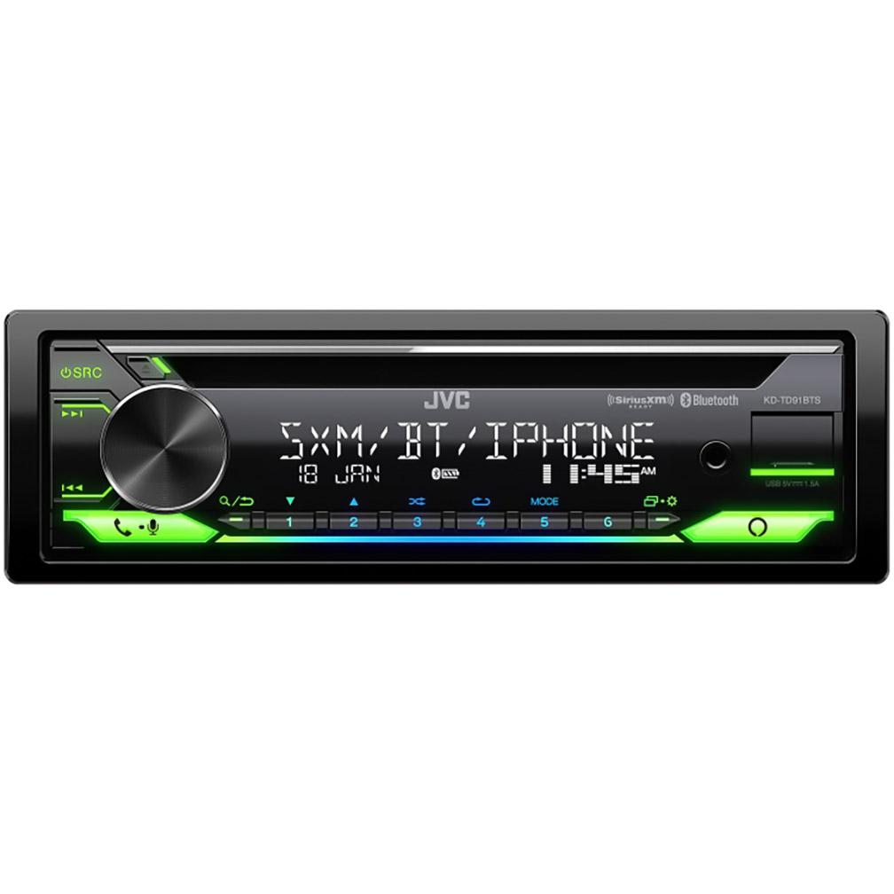 JVC Single Din AM/FM/CD/USB Bluetooth Sirius XM Ready