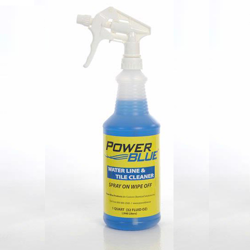 Cleaning Product, Power Blue, Waterline & Tile Cleaner, 32oz Bottle