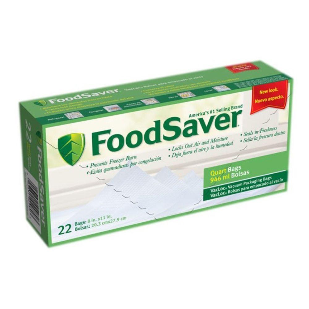 FoodSaver� T020-00030-010 1 Quart Pre-Cut Bags - 22 ct