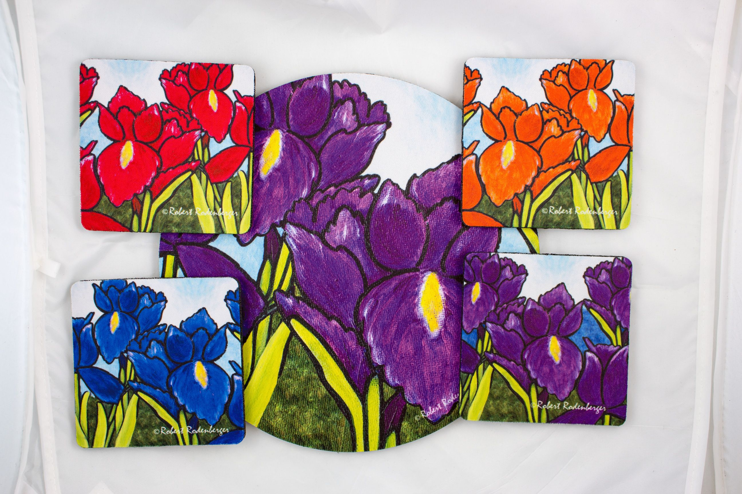 Iris Colors Hostess Coaster Set