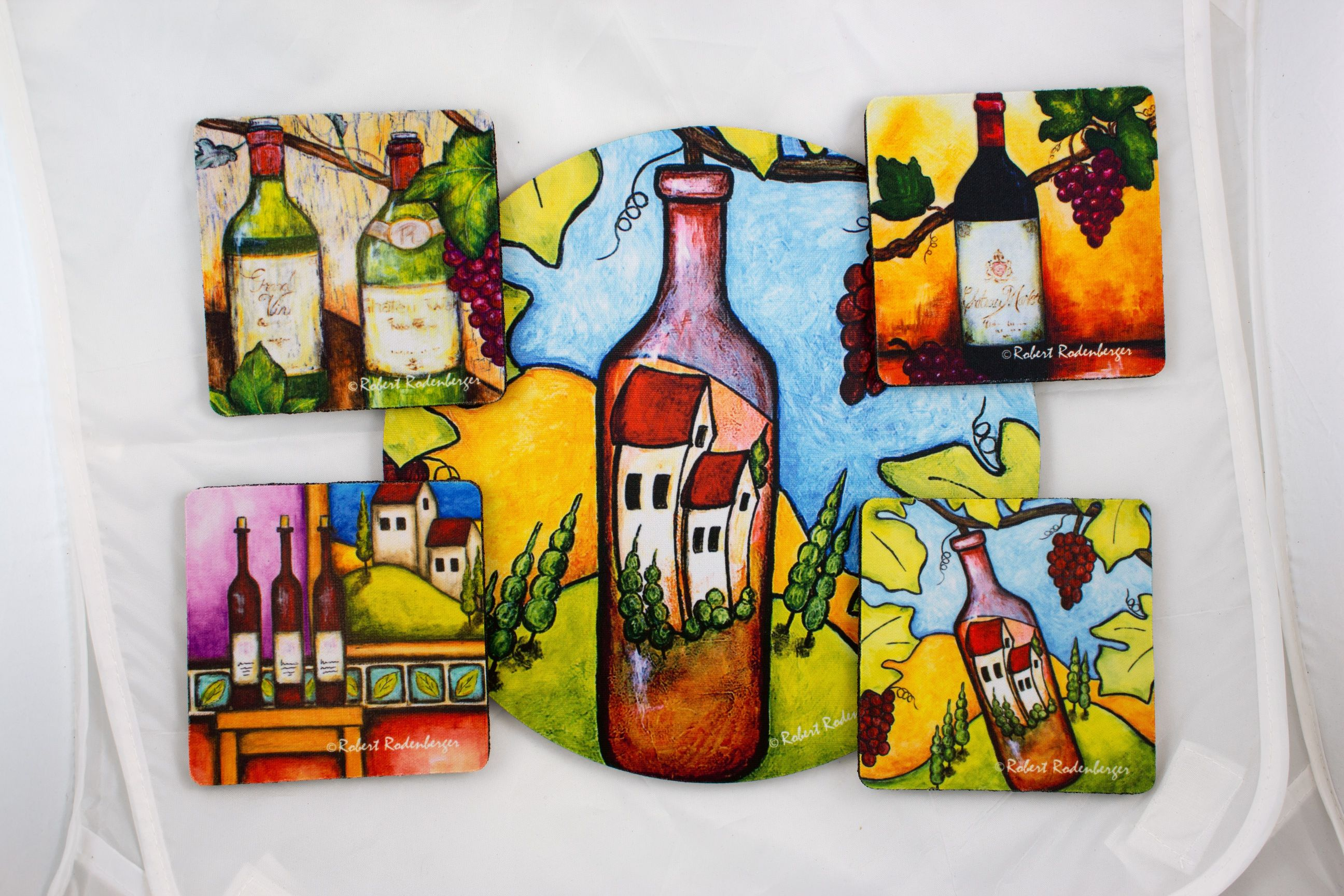 Wine Assortment Hostess Coaster Set