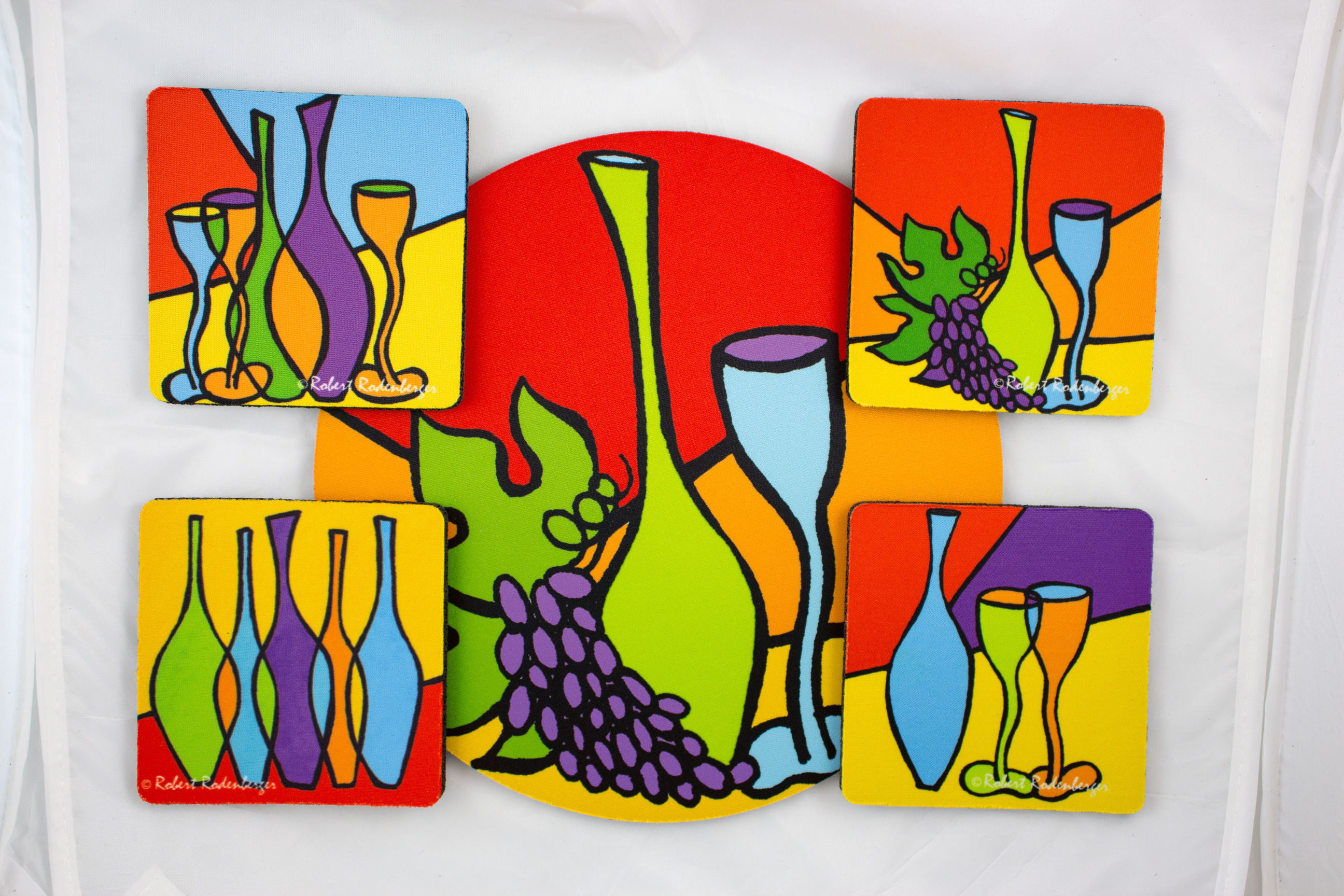 Skinny Bottles Colors Hostess Coaster Set