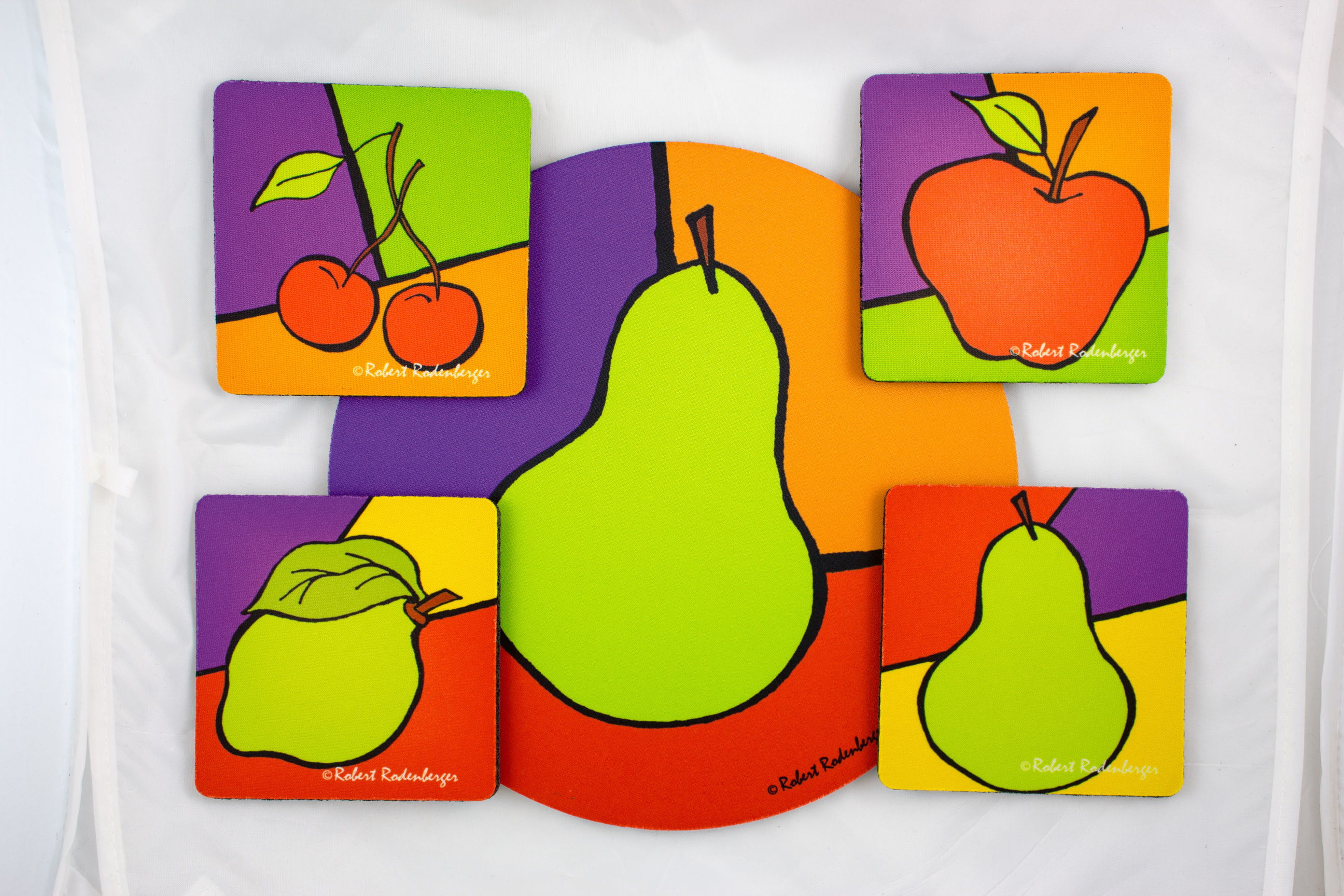 Fruit Colors Hostess Coaster Set