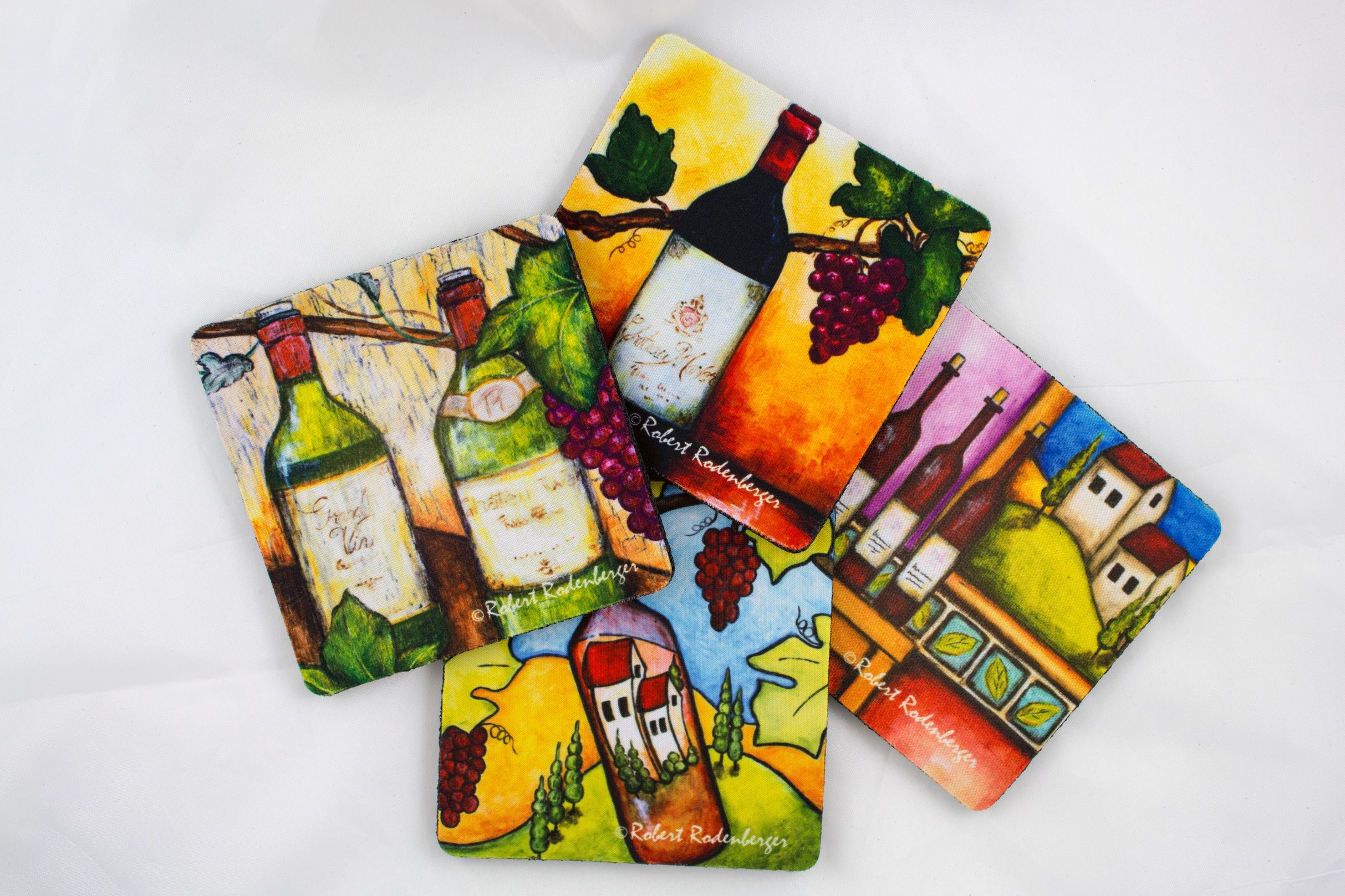 Wine Assortment Coaster Set