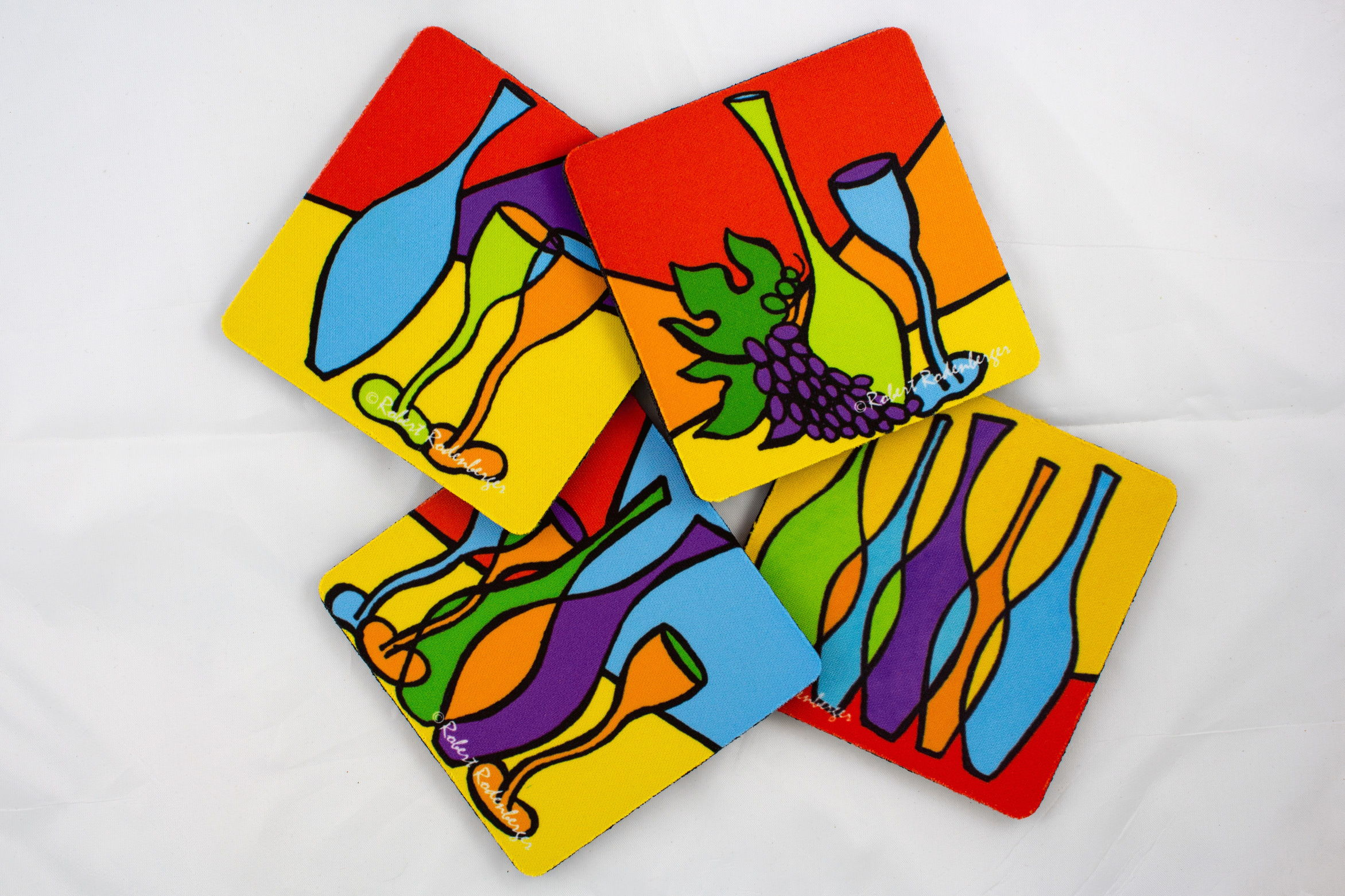Skinny Bottles Colors Coaster Set