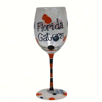 OUT FOR THE SEASON UNTIL FEB. 2017 Wine Glass (12 oz) - Flordia Gators