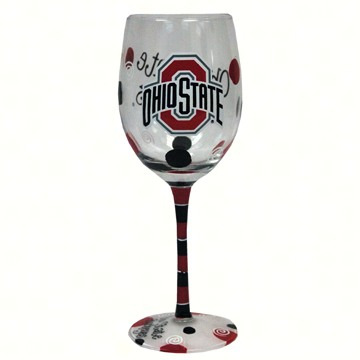 OUT FOR THE SEASON UNTIL FEB. 2017 Wine Glass (12 oz) - Ohio State Buckeyes