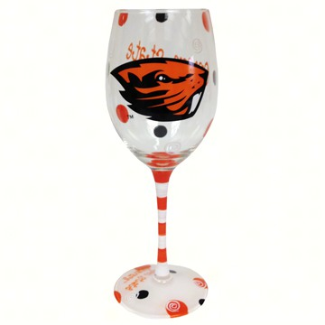 Wine Glass (12 oz) - Oregon State Beavers