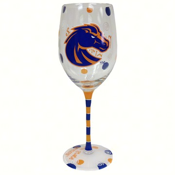 Wine Glass (12 oz) - Boise State Broncos
