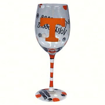 Wine Glass (12 oz) - Tennessee Volunteers
