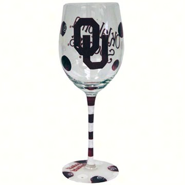 Wine Glass (12 oz) - Oklahoma Sooners