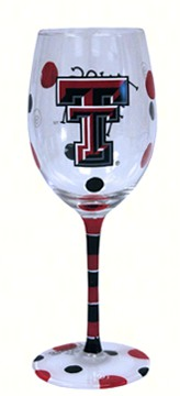 Wine Glass (12 oz) Texas Tech Red Raiders