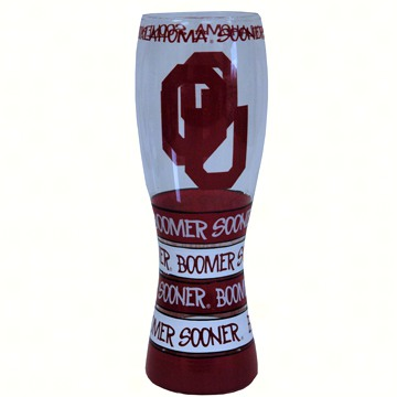Pilsner Glass - Oklahoma Sooners