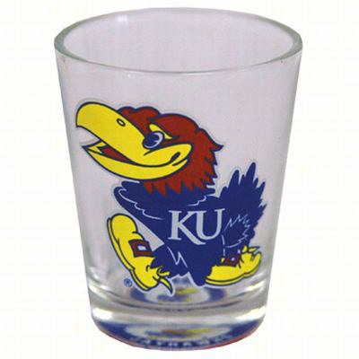 Shot Glass Bullseye Bottom - Kansas Jayhawks