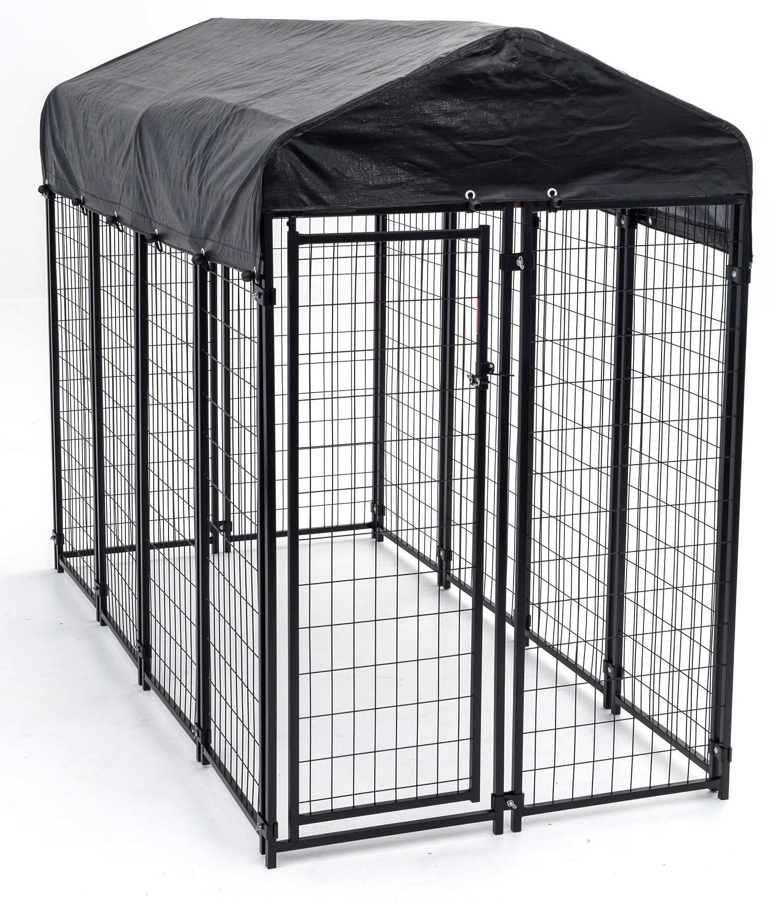 Lucky Dog™ 6'H x 4'W x 8'L Uptown Welded Wire Kennel w/Cover and Frame