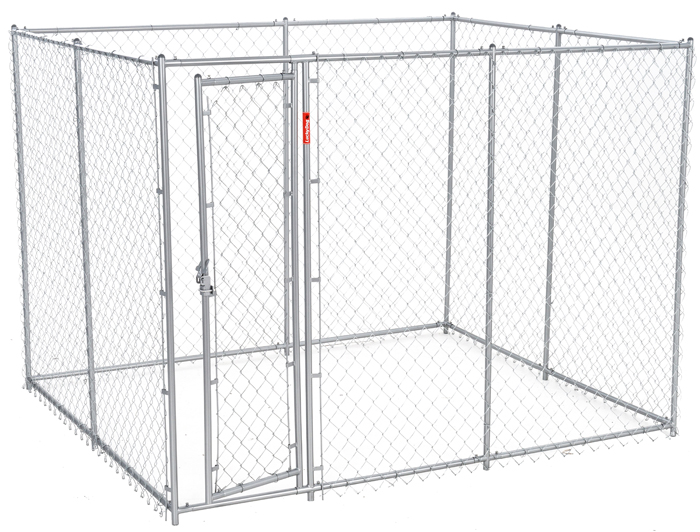 Lucky Dog 6'H x 5'W x 10 or 6'H x 8'W x 6.5'L - 2 in 1 Galvanized Chain Link w/ PC Frame, kit in a box