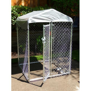 Jewett-Cameron Companies Lucky Dog 4-by-4-by-6 Foot CL64410 Hi-Rise Chain-Link Deck/Patio Kennel at Sears.com