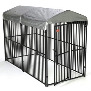 Jewett-Cameron Companies Lucky Dog European Style Modular Kennel with Cover, 6 by 5 by 10-Feet at Sears.com