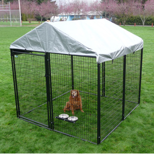 AKC Pro-Breeder Kennel w/Cover, 8'L x 8'W x 6'H